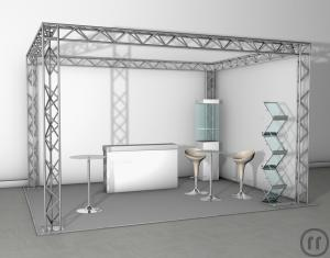 Messestand / Traversen Karree 6mx 4m x 4m