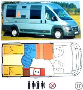 wohnmobil kastenwagen bis 4 person weitere daten siehe. Black Bedroom Furniture Sets. Home Design Ideas