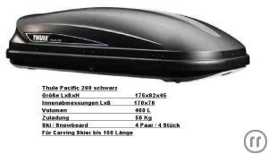 dachbox thule pacific 200 in schwarz mieten in mormerland. Black Bedroom Furniture Sets. Home Design Ideas
