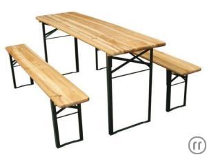 Biergarten Garnitur aus Brauereiherstellung Stühle und