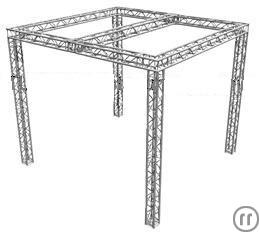 Global Truss Messestand 4,5m x 5,5m x 5m x 5m