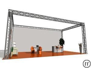 Messestand, fair stand, Traversensystem 6x4x3m, Ground support, booth, stand, exhibition