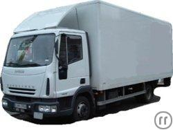Iveco 7,49t Koffer m. Ladebordwand