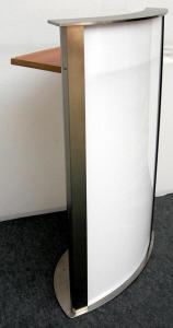 rednerpult edle optik edelstahl plexiglas milchglas messe. Black Bedroom Furniture Sets. Home Design Ideas