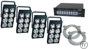 4X AUDIENCE BLINDER 8ER BLINDER + DIMMER + KABEL