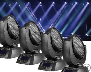 MOVING HEAD - 4X JB A7 - LED RGB ZOOM WASH + CASE