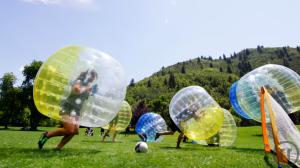 2-Bubble Fußball, Zorb Soccer, Bubble Footbal, Loopy Ball, Bumpers Bälle, mieten Kempten...