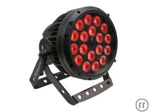 Litecraft AT10 OutLED Outdoor PAR, LED Scheinwerfer, schwarz, 25°, RGBA, 18x10W 4in1,LED, IP65