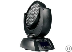 JB Lighting A7 LED Moving Head Wash, RGB, 108x High-Power LED, 8°- 28° Zoom, inkl. 2x Camlock Halter
