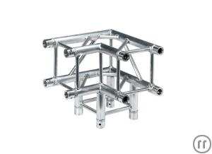 Eurotruss FD34 Winkel, 90°, 3-Weg, 0.5m, Global Truss F34 / Sweettruss KV4/290 kompat., inkl. Konusv