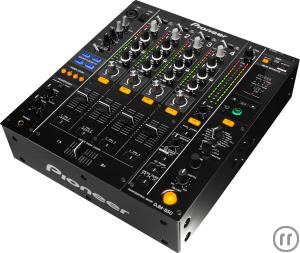 1-Pioneer DJM 850, Tonmischpult, 4-Kanal High-End Digitalmixer (Schwarz)