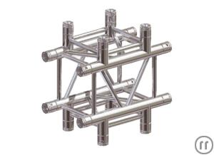 Eurotruss FD34 Kreuz, 4-Weg, 0.5x0.5m, Global Truss F34 / Sweettruss KV4/290 kompat., inkl. Konusver