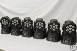 Vermiete Moving Head LED 7x10W DJ Disco Licht
