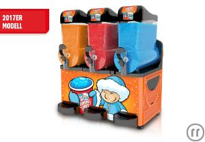 Slush-Ice Maschine - Slush-Eismaschine - 3 Kammern a 10 Liter