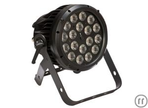 Litecraft AT10 OutLED Outdoor PAR, schwarz, 25°, RGBA, 18x10W 4in1,LED, IP65, DMX512, Stand-Alone