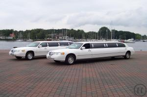 Limousine mieten mit Chauffeur Stretchlimousine 8,60 Lincoln Neues Rundes Modell
