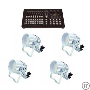 LED Dekolicht Set mit 4 LED-Scheinwerfern - LED PAR 56