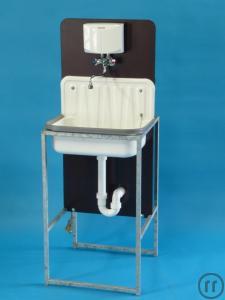 waschbecken handwaschbecken sp le sp lbecken inklusive durchlauferhitzer boiler mieten. Black Bedroom Furniture Sets. Home Design Ideas